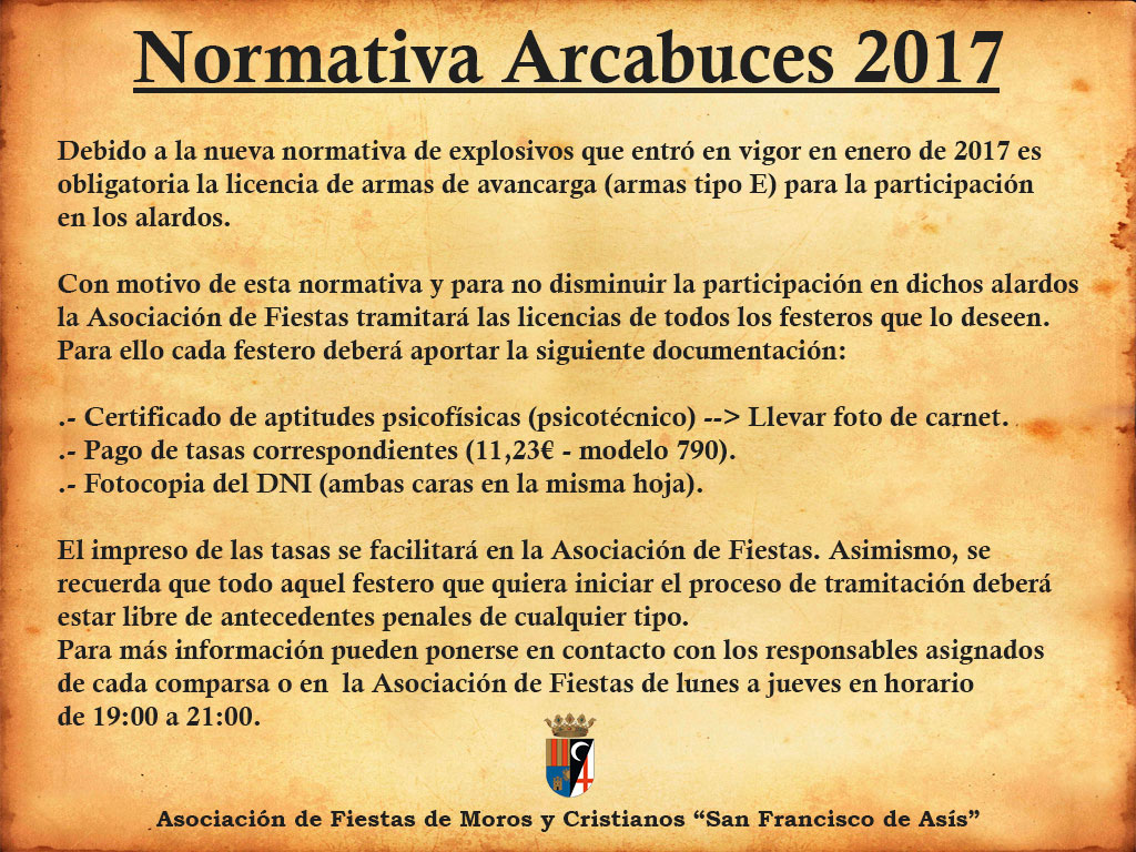 Normativa Arcabuces 2017